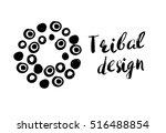 tribal design lettering and dot ... | Shutterstock .eps vector #516488854