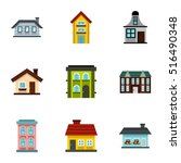Habitation Icons Set. Flat...