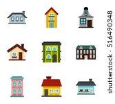 Habitation Icons Set. Flat...