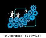 concept of software development ... | Shutterstock .eps vector #516494164