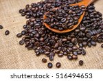 roasted coffee beans | Shutterstock . vector #516494653
