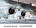 airplane in preflight service... | Shutterstock . vector #516500380