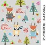 merry christmas | Shutterstock .eps vector #516500638