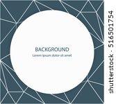 geometric background. modern... | Shutterstock .eps vector #516501754