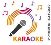 karaoke icon  karaoke... | Shutterstock .eps vector #516502690