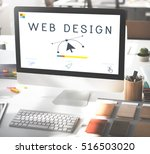 responsive design website... | Shutterstock . vector #516503020
