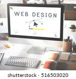 responsive design website...   Shutterstock . vector #516503020