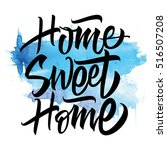 sweet home. vector illustration.... | Shutterstock .eps vector #516507208