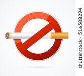 no smoking sign with realistic... | Shutterstock .eps vector #516508294