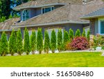 nicely trimmed and landscaped... | Shutterstock . vector #516508480