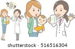 female pharmacist and young mama | Shutterstock .eps vector #516516304