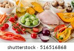 healthy eating  dieting concept.... | Shutterstock . vector #516516868