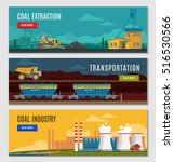 three colorful mining industry... | Shutterstock .eps vector #516530566