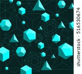platonic solids shapes and... | Shutterstock .eps vector #516530674