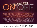 realistic lamps font with on... | Shutterstock .eps vector #516531130