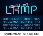 realistic lamps font with on... | Shutterstock .eps vector #516531133