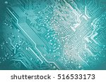 circuit board. electronic... | Shutterstock . vector #516533173
