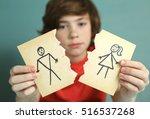 sad preteen boy unhappy about... | Shutterstock . vector #516537268