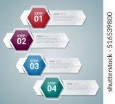 horizontal infographic design...