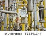 pressure gauge in oil and gas... | Shutterstock . vector #516541144