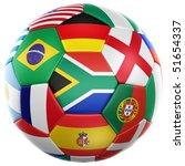 3d rendering of a soccer ball... | Shutterstock . vector #51654337