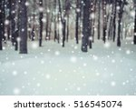 frosty winter landscape in... | Shutterstock . vector #516545074