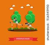 vector illustration of two... | Shutterstock .eps vector #516545950