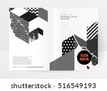 geometric background template... | Shutterstock .eps vector #516549193
