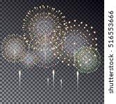festive transparent firework... | Shutterstock .eps vector #516553666