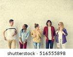 diversity students friends... | Shutterstock . vector #516555898