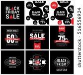 black friday sale label set | Shutterstock .eps vector #516556924