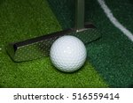 golf ball and putter | Shutterstock . vector #516559414