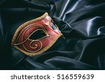 Red Carnival Mask Isolated On...