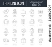 icons set of shopping and... | Shutterstock .eps vector #516560809
