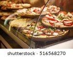 true italian pizza in the... | Shutterstock . vector #516568270