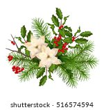 vector christmas decorations.... | Shutterstock .eps vector #516574594