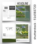 set of business templates for... | Shutterstock .eps vector #516583720