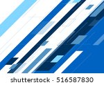 blue abstract minimal geometric ... | Shutterstock .eps vector #516587830