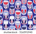 seamless pattern with beautiful ... | Shutterstock .eps vector #516591940
