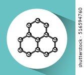 hand holding molecule research... | Shutterstock .eps vector #516594760