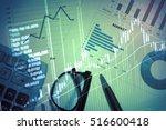 analyzing data closeup of hands ... | Shutterstock . vector #516600418