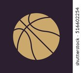 the basketball icon. game... | Shutterstock . vector #516602254