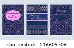 vector illustration of knitted... | Shutterstock .eps vector #516609706