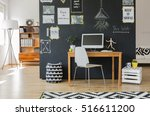 creative working space with... | Shutterstock . vector #516611200