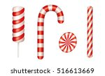 christmas candies set. includes ... | Shutterstock .eps vector #516613669
