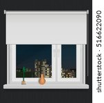 a plastic window with view on... | Shutterstock .eps vector #516622090