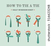 instructions on how to tie a... | Shutterstock .eps vector #516623248