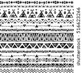 black and white color tribal... | Shutterstock .eps vector #516623266