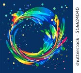 abstract colorful circle... | Shutterstock .eps vector #516624040