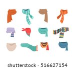set of scarves for boys and... | Shutterstock .eps vector #516627154